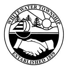 Black and white township logo